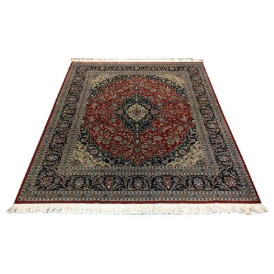 One-of-a-Kind Luyster Hand-Knotted Wool Red/Blue Area Rug