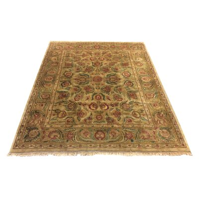 One-of-a-Kind Lybarger Hand-Knotted Wool Earth Tones Area Rug
