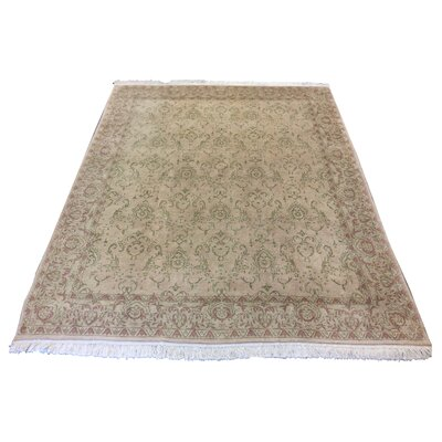One-of-a-Kind Dudgeon Romanian Hand-Knotted Wool Beige/Rose Area Rug