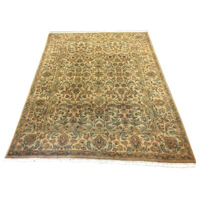 One-of-a-Kind Lybarger Hand-Knotted Wool Gold/Beige Area Rug