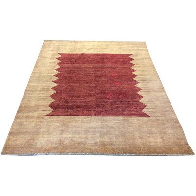 One-of-a-Kind Pereda Hand-Knotted Wool Brown/Red Area Rug