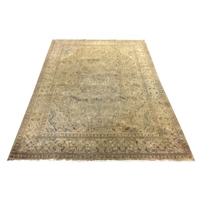 One-of-a-Kind Mahle Vintage Persian Tribal Neutral Hand-Knotted Wool Brown Area Rug