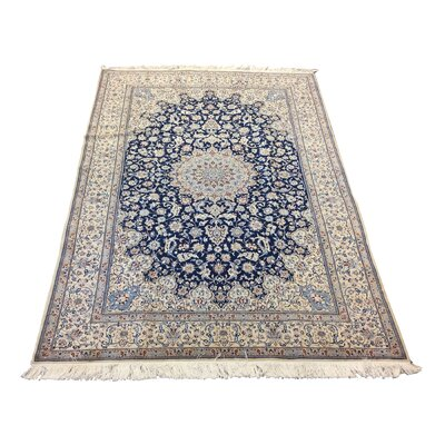 One-of-a-Kind Lyke Hand-Knotted Wool Blue/Ivory Area Rug