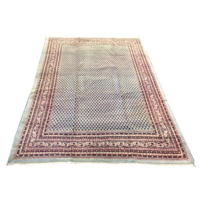 One-of-a-Kind Mahon Hand-Knotted Wool Green Area Rug