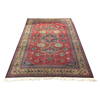 One-of-a-Kind Zangerl Afghan Tribal Hand-Knotted Wool Red Area Rug