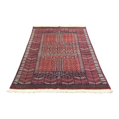 One-of-a-Kind Ignacio Afghan Tribal Rust Hand-Knotted Wool Red Area Rug
