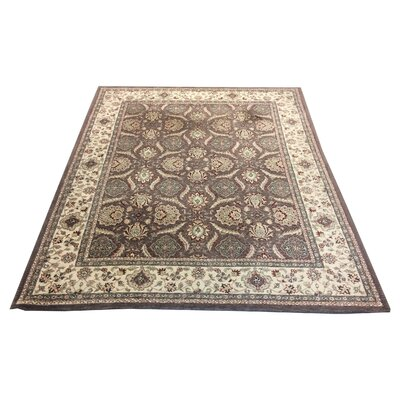 One-of-a-Kind Lutz Hand-Knotted Wool Taupe Area Rug