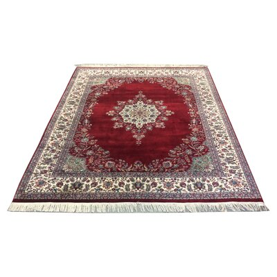 One-of-a-Kind Lydon Hand-Knotted Wool Red/Ivory Area Rug