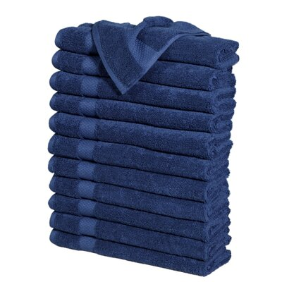 Potluri Combed Cotton Hand Towel Color: Navy