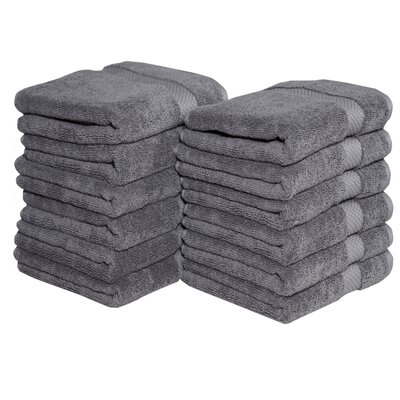Potluri Combed Cotton Hand Towel Color: Gray