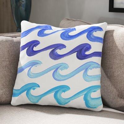 Lorrie Wave Rider Throw Pillow Size: 18 H x 18 W x 3 D