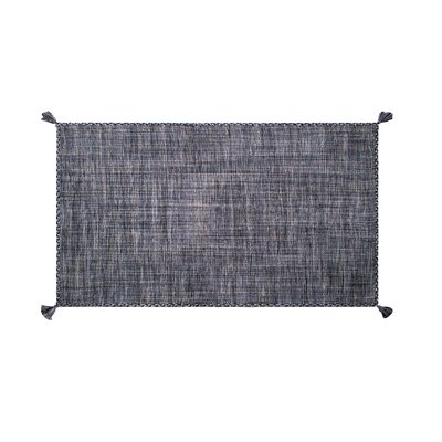 Castaldo Hand-Woven Cotton Indigo Area Rug Rug Size: Rectangle 5 x 8