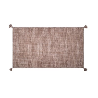 Castaldo Hand-Woven Cotton Sand Area Rug Rug Size: Rectangle 5 x 8