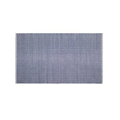 Mcgreevy Hand-Woven Cotton Blue Area Rug Rug Size: Rectangle 3 x 5