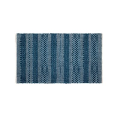 Marciano Hand-Woven Teal Indoor/Outdoor Area Rug Rug Size: Rectangle 4 x 6