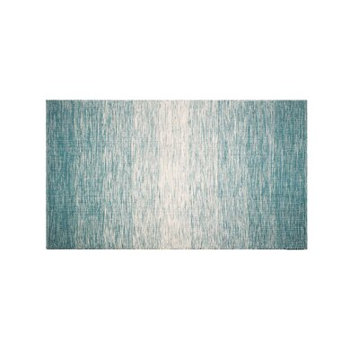 Mcgrew Hand-Woven Teal Indoor/Outdoor Area Rug Rug Size: Rectangle 4 x 6