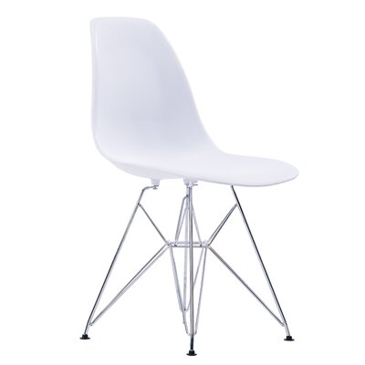 Jambi Modern Dining Chair Color: White