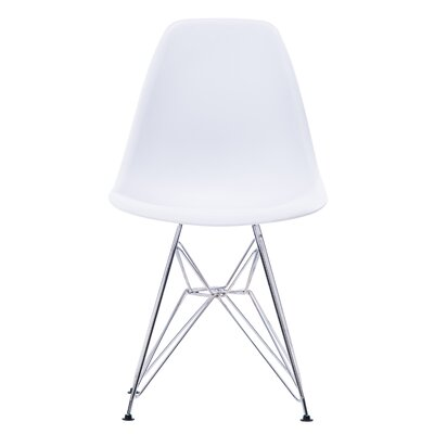 Jamarion Modern Dining Chair Color: White