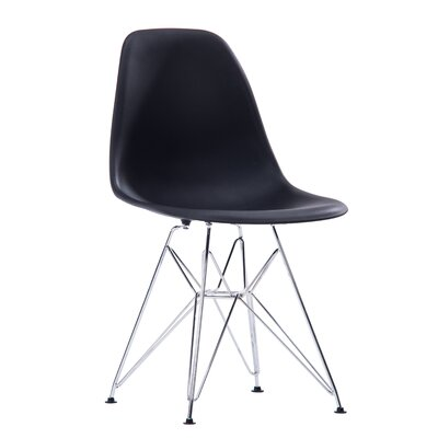 Jamarion Modern Dining Chair Color: Black