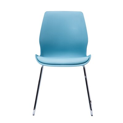 Asencio Modern Cushioned Dining Chair Color: Blue