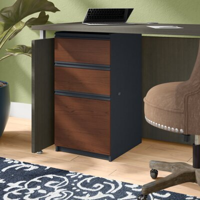 Bormann 29.4 H x 15.4 W Desk File Pedestal Pedestal Finish: Bordeaux and Graphite