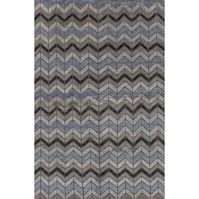 Gow Hand-Knotted Wool Gray Area Rug