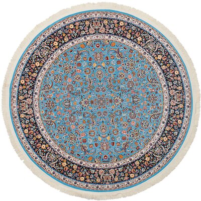 Hudgins Nain Sky Blue Area Rug Rug Size: Round 411