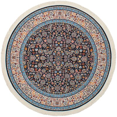 Hudgins Nain Dark Brown Area Rug Rug Size: Round 411