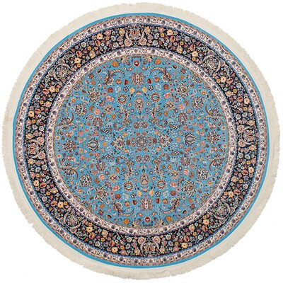 Hudgins Nain Sky Blue Area Rug Rug Size: Round 67