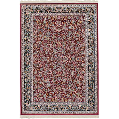 Hudgins Nain Red Area Rug Rug Size: Rectangle 67 x 910
