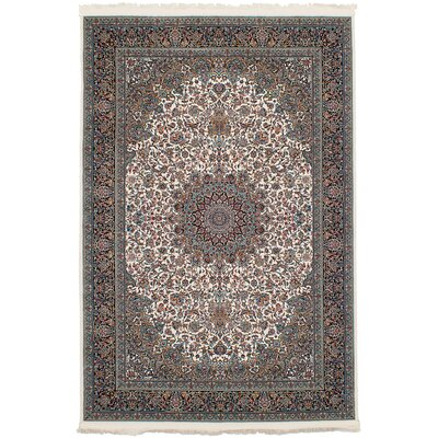 Hudgins Kashan Gray Area Rug Rug Size: Rectangle 67 x 910