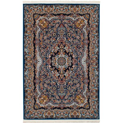 Hudgins Isfahan Brown/Blue Area Rug Rug Size: Rectangle 67 x 910