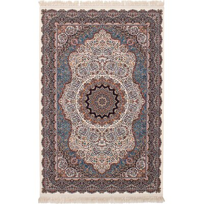 Hudgins Qom Cream Area Rug