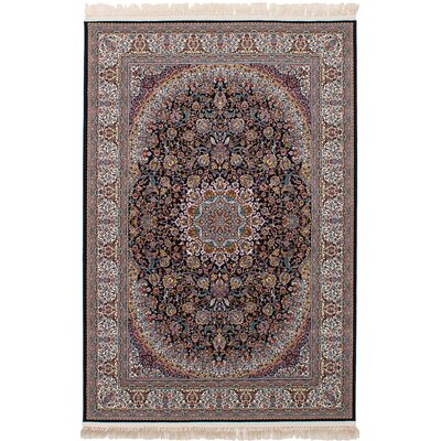 Hudgins Qom Brown Area Rug Rug Size: Rectangle 411 x 75