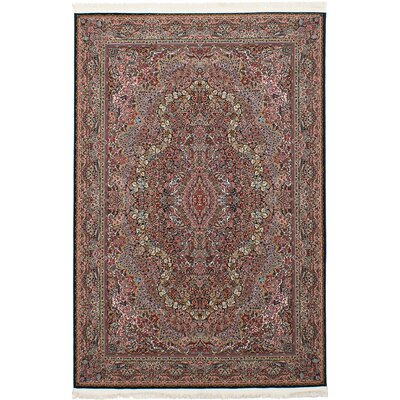 Hudgins Kerman Dark Brown Area Rug Rug Size: Rectangle 67 x 910
