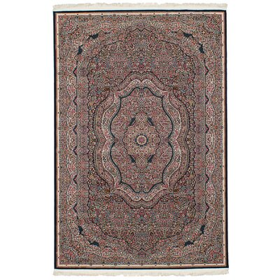 Hudgins Kerman Dark Brown Area Rug Rug Size: Rectangle 411 x 75
