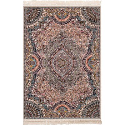 Hudgins Isfahan Tan Area Rug Rug Size: Rectangle 67 x 910