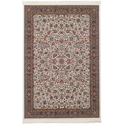 Hudgins Kashan Cream Area Rug Rug Size: Rectangle 67 x 910