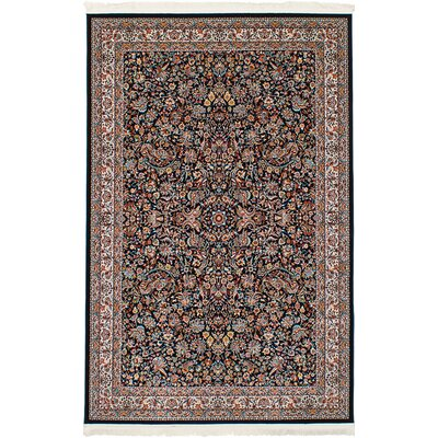 Hudgins Kashan Dark Brown Area Rug Rug Size: Rectangle 67 x 910