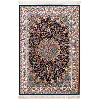 Hudgins Mashad Ivory Area Rug Rug Size: Rectangle 67 x 910