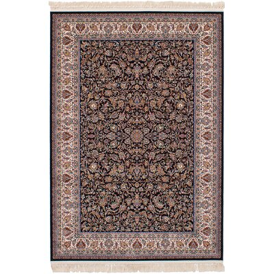 Hudgins Mashad Dark Brown Area Rug Rug Size: Rectangle 67 x 910