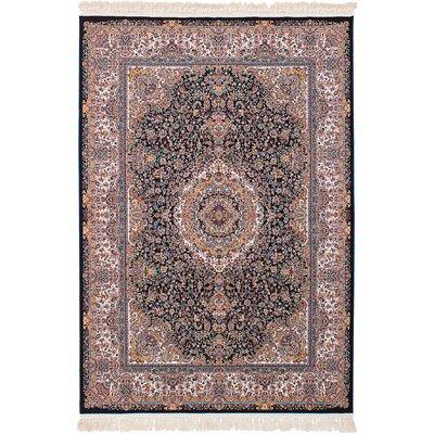 Hudgins Qom Brown Area Rug Rug Size: Rectangle 67 x 910