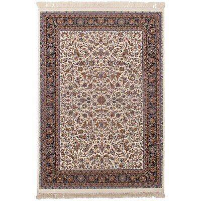 Hudgins Mashad Cream Area Rug Rug Size: Rectangle 67 x 910