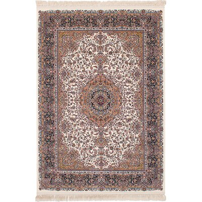 Hudgins Qom Brown Area Rug Rug Size: Rectangle 67 x 910