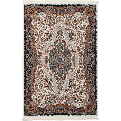 Hudgins Tabriz Cream Area Rug Rug Size: Rectangle 411 x 75