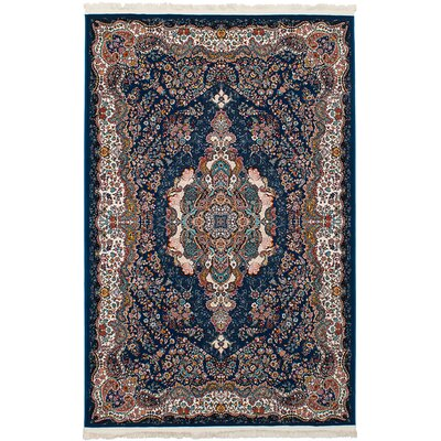 Hudgins Tabriz Dark Blue/Brown Area Rug Rug Size: Rectangle 411 x 75