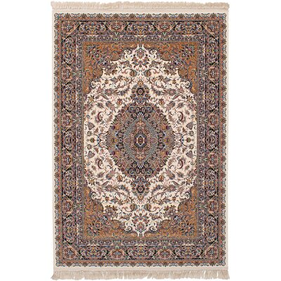 Hudgins Tabriz Cream Area Rug