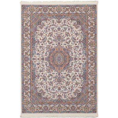 Hudgins Tabriz Cream Area Rug Rug Size: Rectangle 411 x 75
