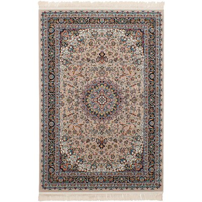Hudgins Tabriz Tan Area Rug Rug Size: Rectangle 67 x 910