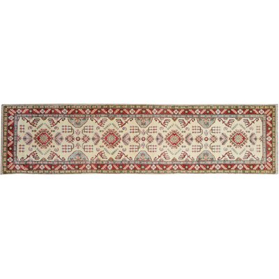 One-of-a-Kind Flavia Hand-Knotted Wool Ivory/Red Area Rug